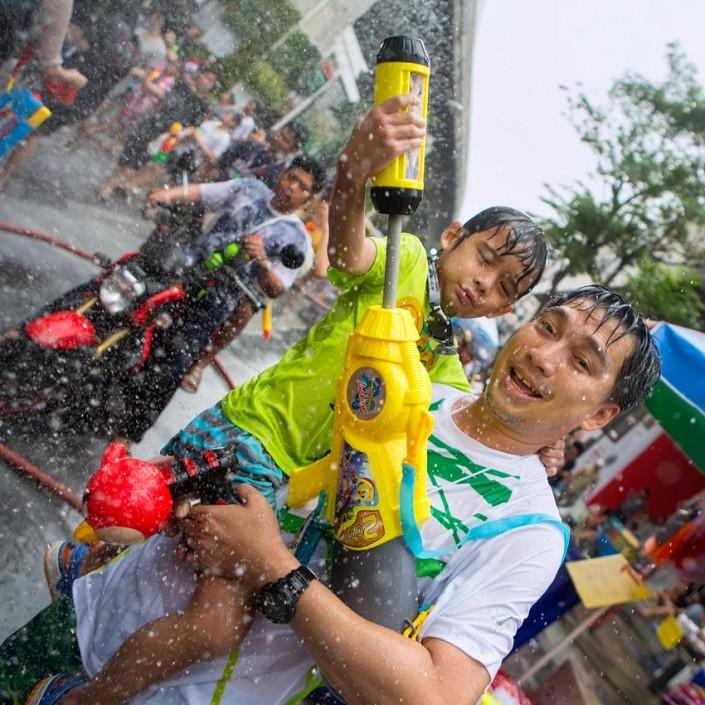 Songkran, Bangkok