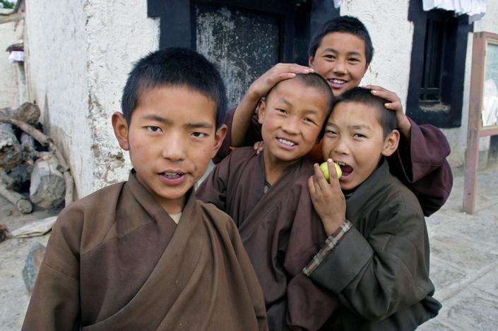 Tibet novice monks